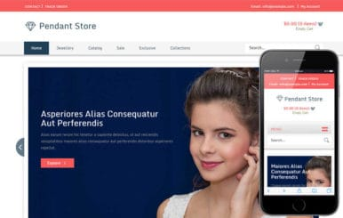 Pendent Store a Jewellery Category Flat Responsive Web Template