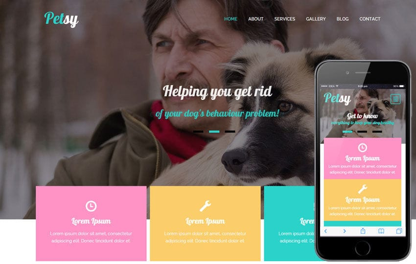 Petsy a Animal Category Flat Bootstrap Responsive Web Template