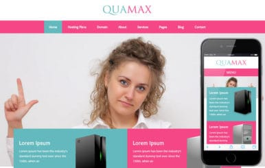 Quamax a Web Hosting Flat Bootstrap Responsive Web Template