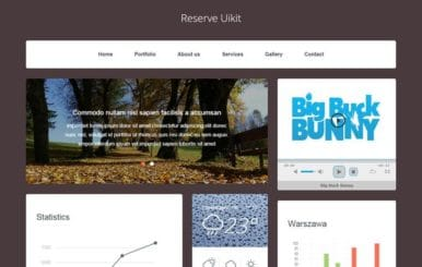 Reserve UI Kit a Flat Bootstrap Responsive Web Template