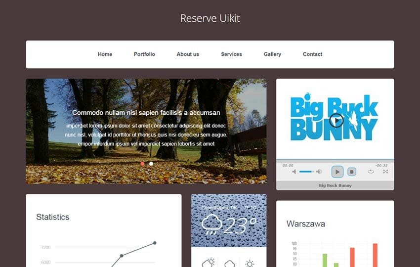 Reserve UI Kit a Flat Bootstrap Responsive Web Template Mobile website template Free