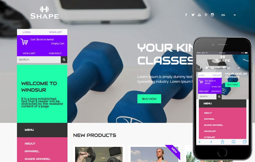 Shape a Flat Ecommerce Bootstrap Responsive Web Template Mobile website template Free