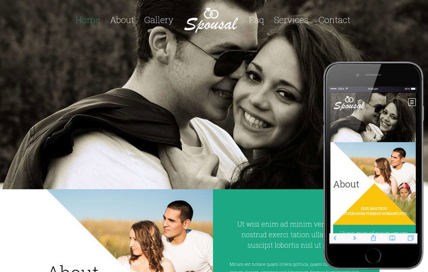 Spousal a Wedding Planner Flat Bootstrap Responsive Web Template Mobile website template Free