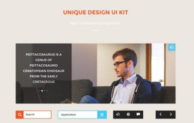Unique Design UI Kit a Flat Bootstrap Responsive Web Template