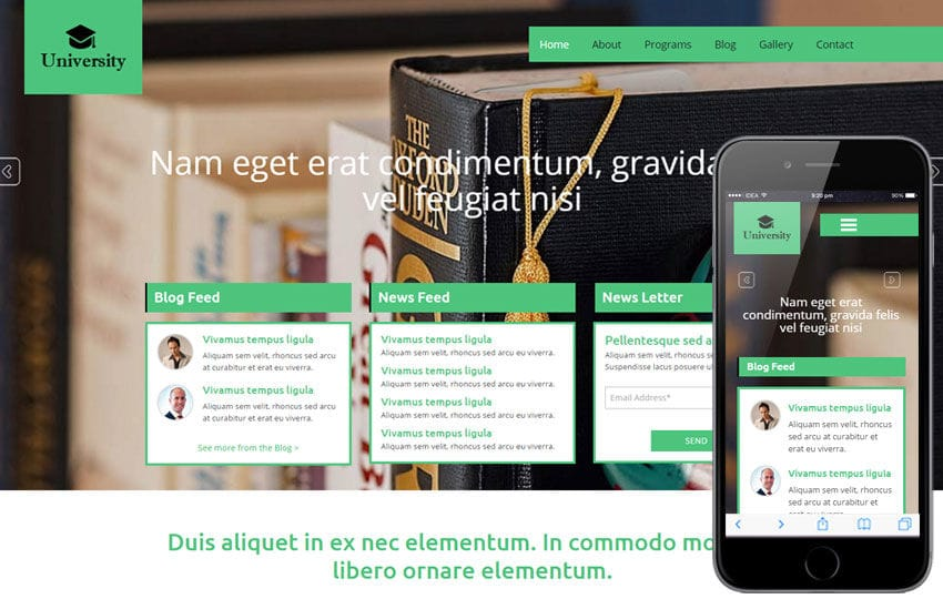 University a Educational Category Flat Bootstrap Responsive web template