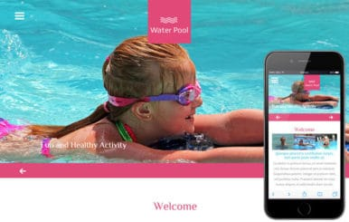 Water Pool a Sports Category Flat Bootstrap Responsive Web Template