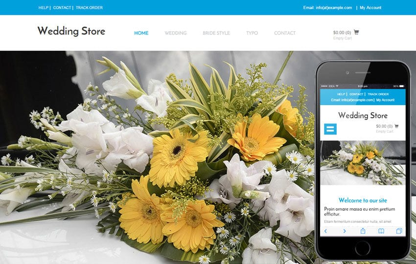 Wedding Store a Wedding Ecommerce Flat Bootstrap Responsive Web Template Mobile website template Free