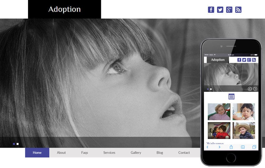 Adoption a Charity Category Flat Bootstrap Responsive Web Template Mobile website template Free