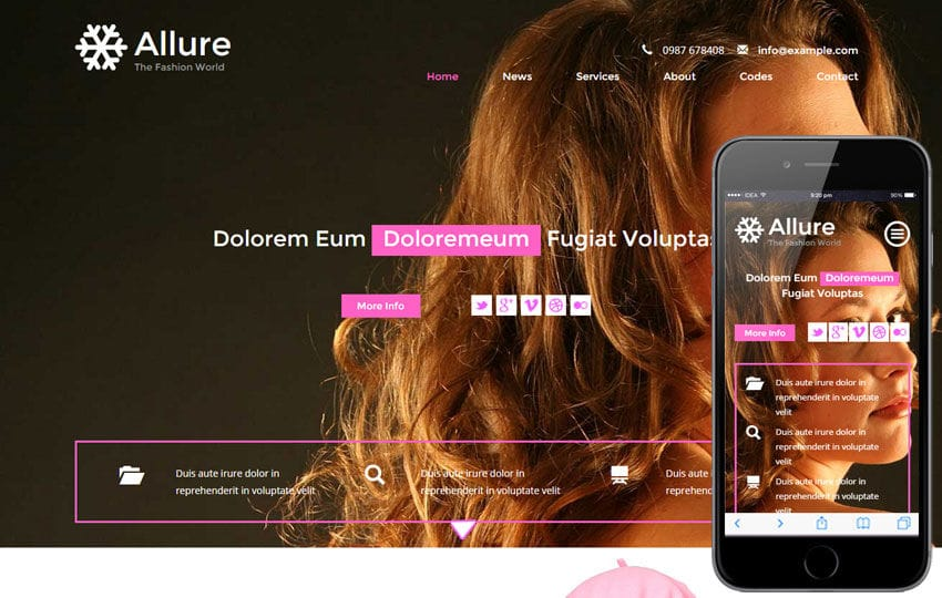 Allure a Fashion Category Flat Bootstrap Responsive Web Template