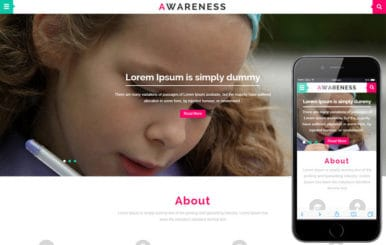 Awareness a Educational Category Flat Bootstrap Responsive web template