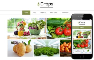 Crops a Agriculture Category Flat Bootstrap Responsive Web Template