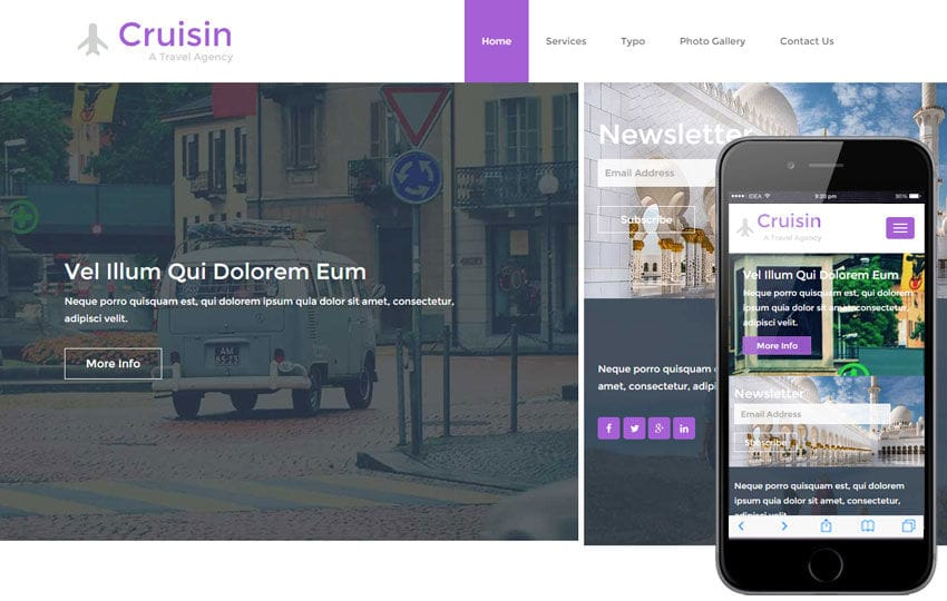 Cruisin a Travel Agency Flat Bootstrap Responsive web template
