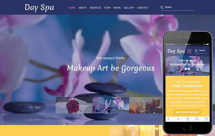 Day Spa a Beauty and Spa Category Flat Bootstrap Responsive Web Template Mobile website template Free