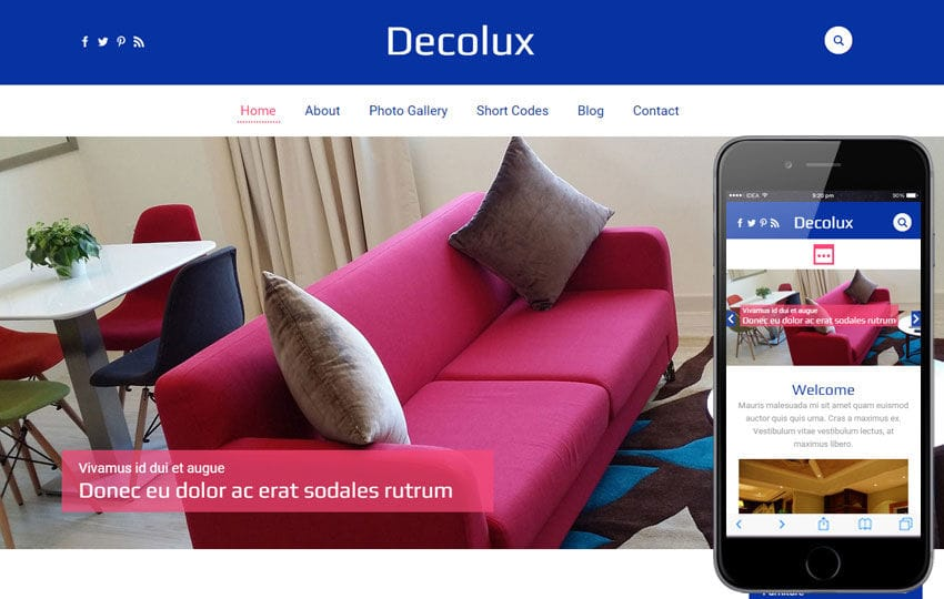 Decolux a Furniture Category Flat Bootstrap Responsive Web Template Mobile website template Free