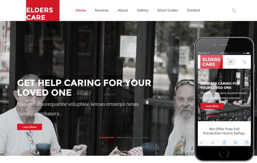 Elders Care a People and Society Category Flat Bootstrap Responsive Web Template Mobile website template Free