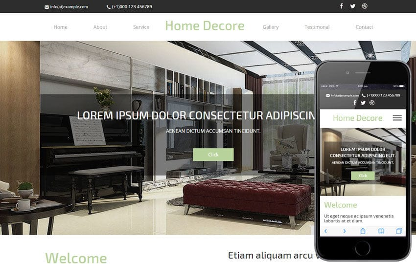 Home Decore a Interior Architects Multipurpose Flat Bootstrap Responsive Web Template Mobile website template Free