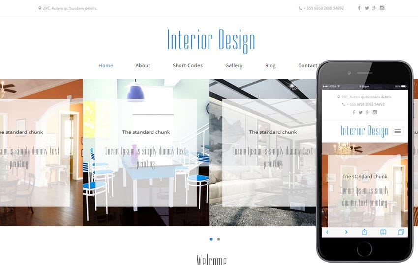 Interior Design a Interior Architects Multipurpose Flat Bootstrap Responsive Web Template Mobile website template Free