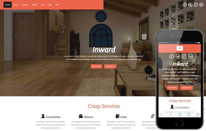 Inward a Interior Architects Multipurpose Flat Bootstrap Responsive Web Template