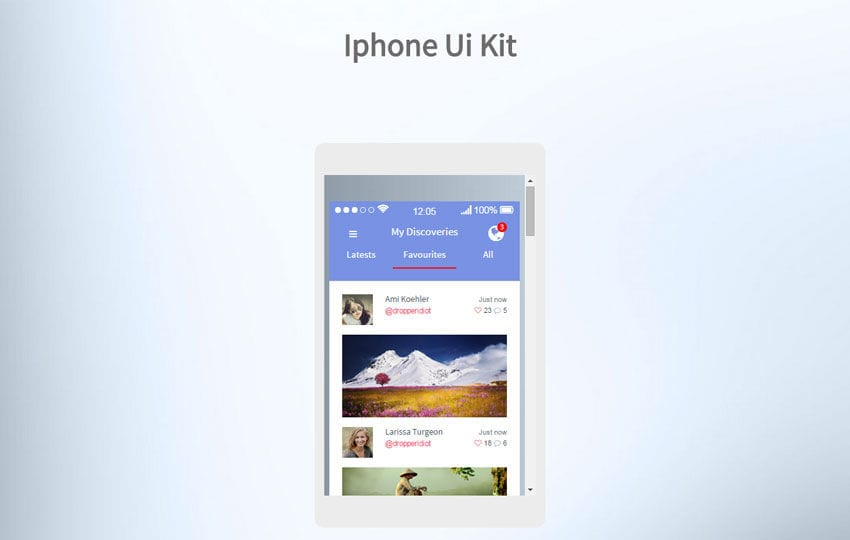 IPhone UI Kit a Flat Bootstrap Responsive Web Template Mobile website template Free