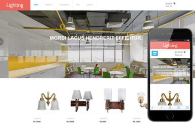 Lighting a Flat Ecommerce Bootstrap Responsive Web Template