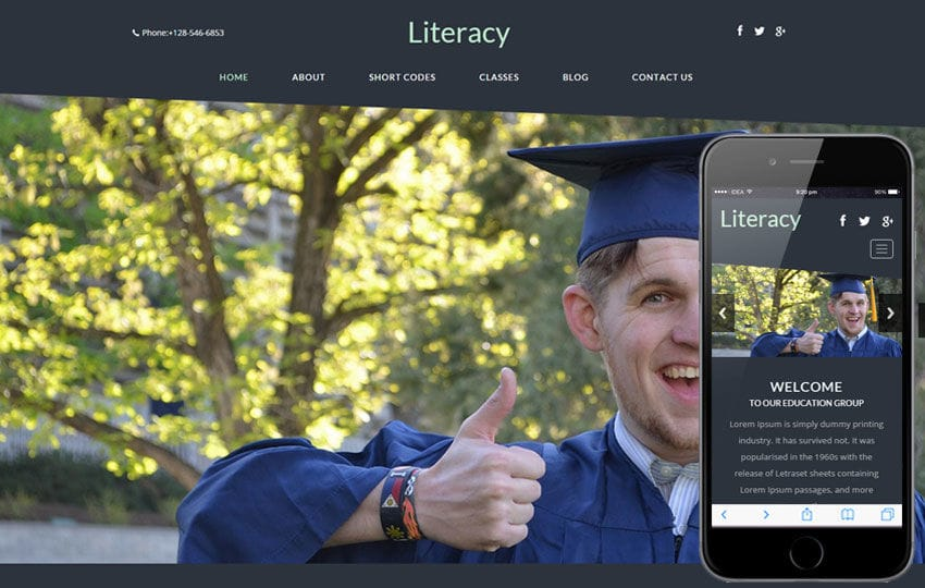 Literacy a Educational Category Flat Bootstrap Responsive web template