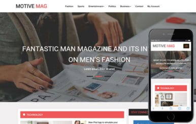 Motive Mag a Entertainment Category Flat Bootstrap Responsive Web Template