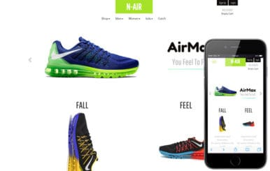 N Air a Flat Ecommerce Bootstrap Responsive Web Template