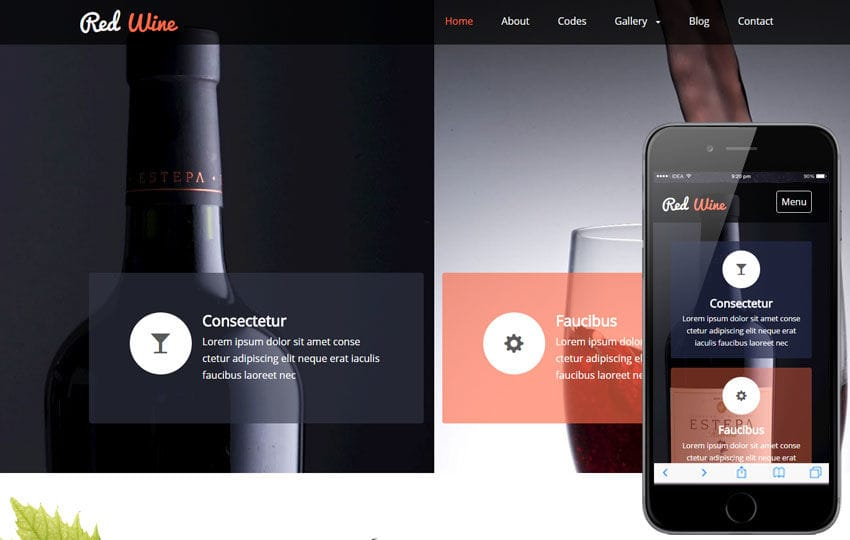 Red Wine a Hotel Category Flat Bootstrap Responsive Web Template Mobile website template Free