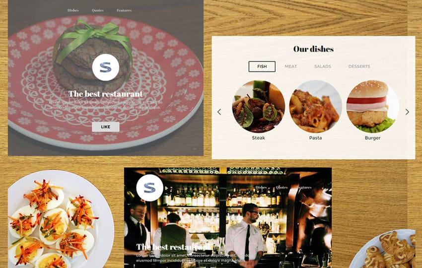Steak House UI Kit a Flat Bootstrap Responsive Web Template