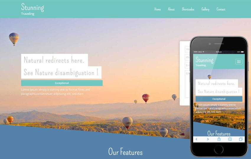 Stunning a Travel Guide Flat Bootstrap Responsive web template