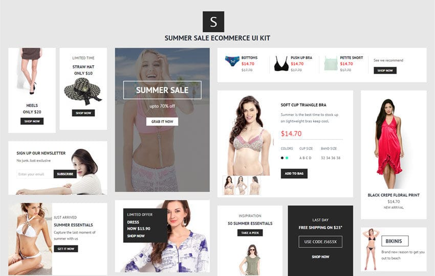 Summer Sale UI Kit a Flat Bootstrap Responsive Web Template Mobile website template Free
