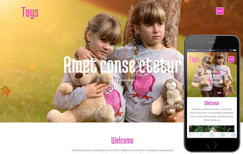 Toys a Games Category Flat Bootstrap Responsive Web Template