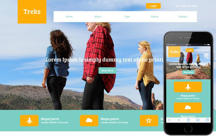 Treks a Travel Guide Flat Bootstrap Responsive web template Mobile website template Free