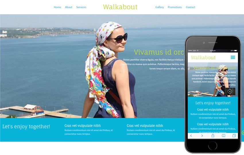 Walk About a Travel Guide Flat Bootstrap Responsive web template