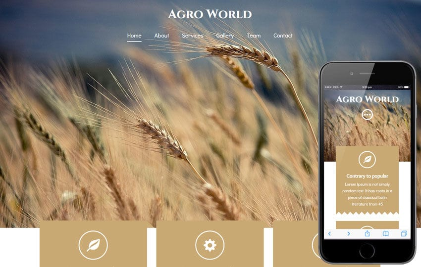 Agro World a Agriculture Category Flat Bootstrap Responsive Web Template