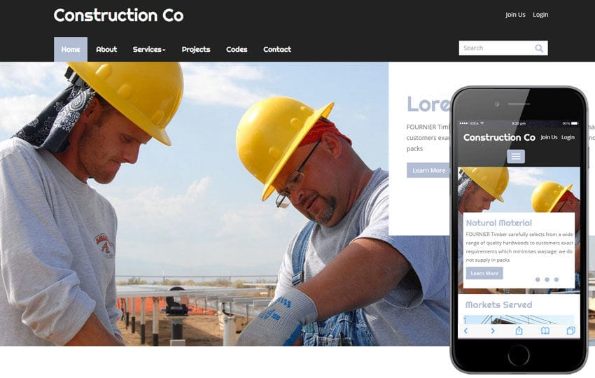 Construction a Real Estate Category Flat Bootstrap Responsive Web Template Mobile website template Free