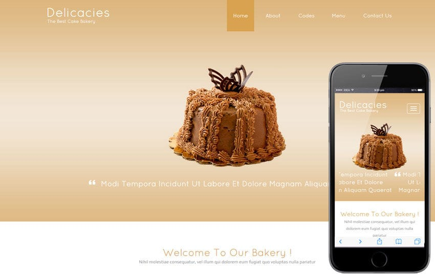 Delicacies a Food Category Flat Bootstrap Responsive Web Template