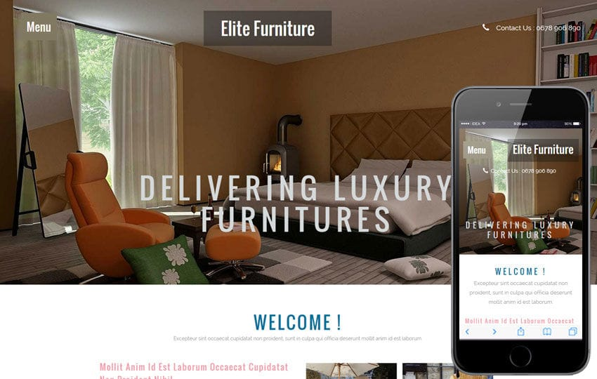Elite Furniture A Interior Architects Multipurpose Flat Bootstrap