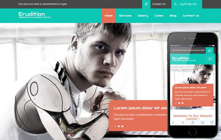 Erudition a Corporate Business Flat Bootstrap Responsive Web Template Mobile website template Free