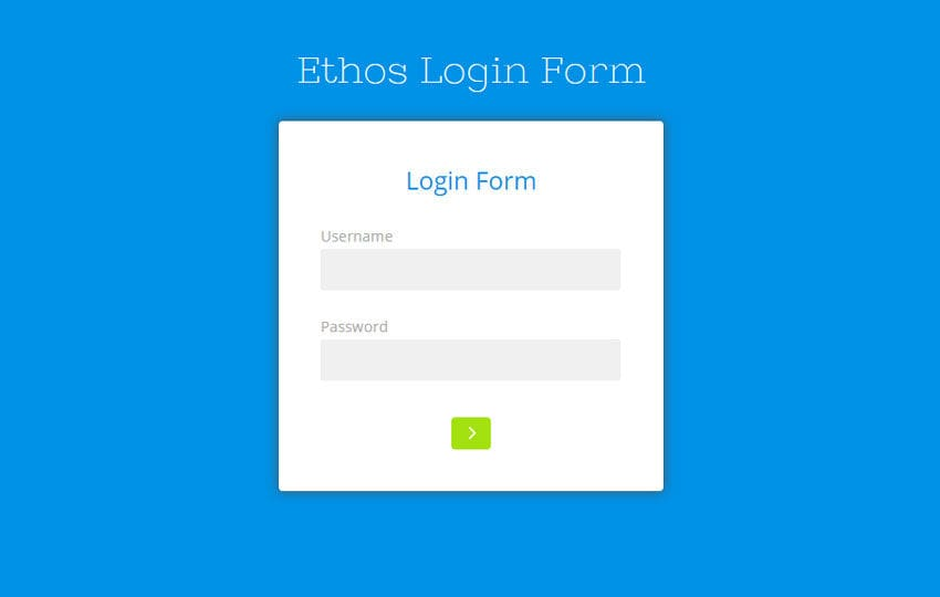 Ethos Login Form Responsive Widget Template