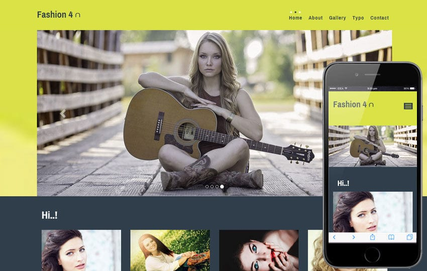 Fashion 4 u a Fashion Category Flat Bootstrap Responsive Web Template Mobile website template Free