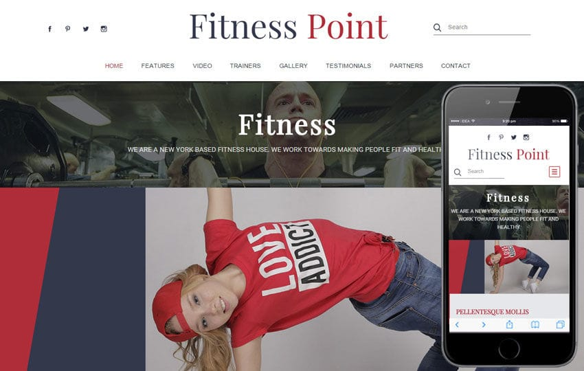 Fitness Point a Sports Category Flat Bootstrap Responsive Web Template Mobile website template Free