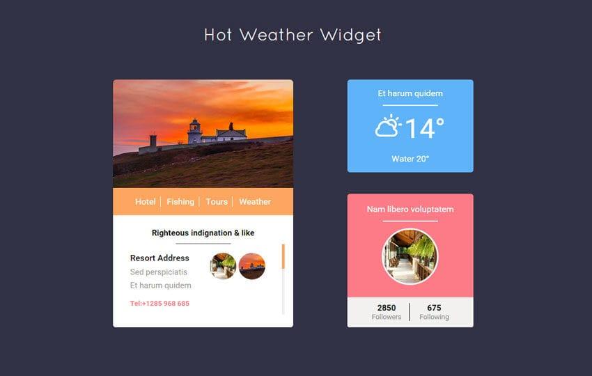 Hot Weather Responsive Widget Template