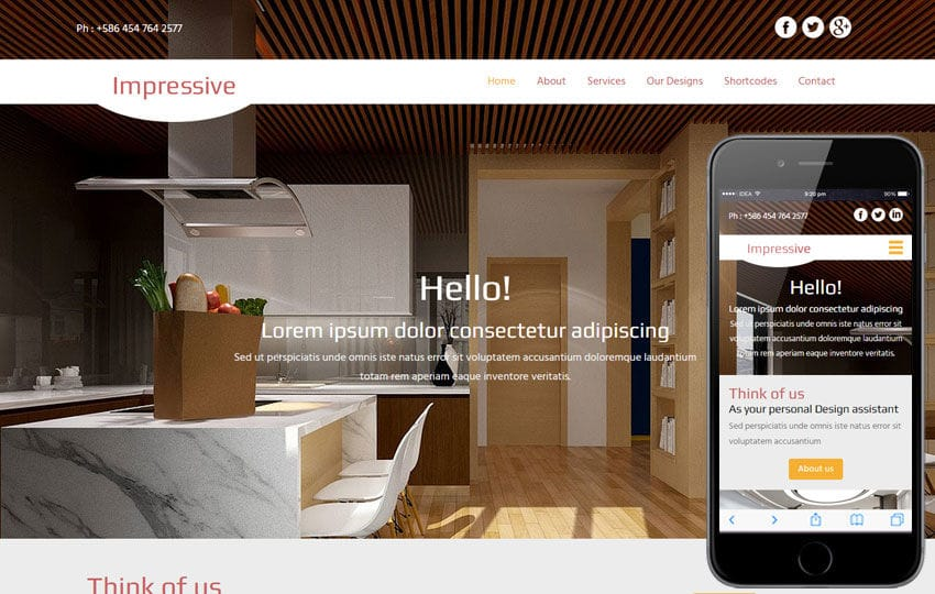 Impressive a Interior Architects Multipurpose Flat Bootstrap Responsive Web Template Mobile website template Free