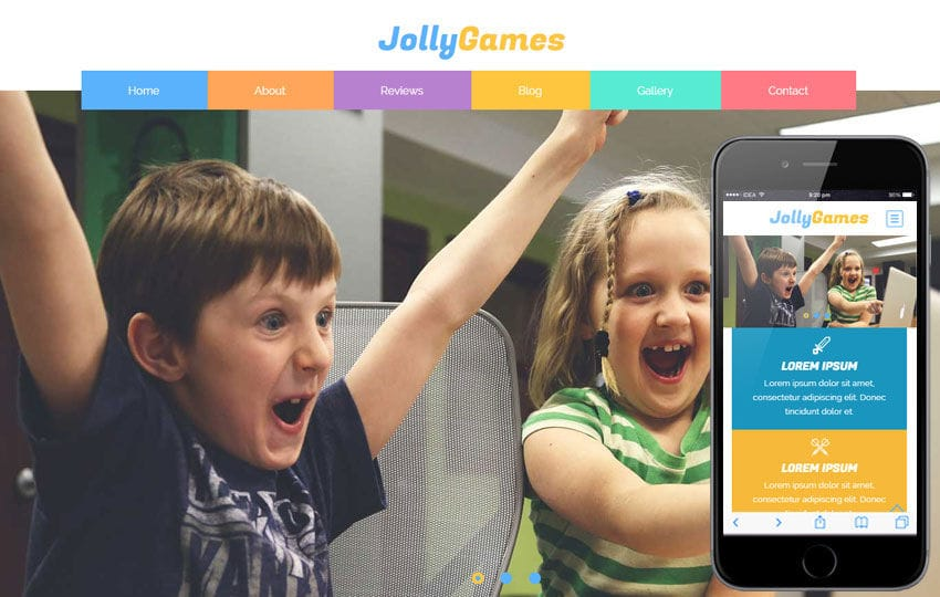 Jolly Games a Games Category Flat Bootstrap Responsive Web Template Mobile website template Free