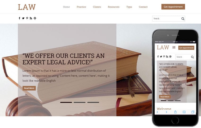 Law a Business Category Flat Bootstrap Responsive Web Template