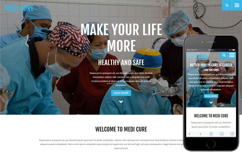 Medi Cure a Medical Category Flat Bootstrap Responsive Web Template Mobile website template Free
