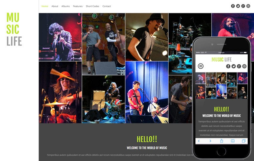 Music Website Templates - W3layouts