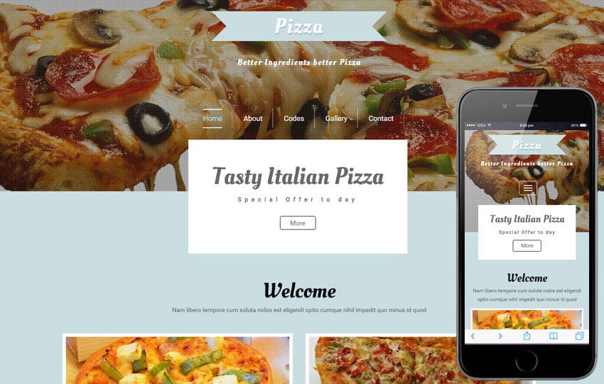 Pizza a Hotel Category Flat Bootstrap Responsive Web Template