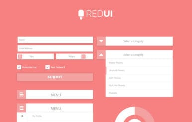 Red UI Kit a Flat Bootstrap Responsive Web Template